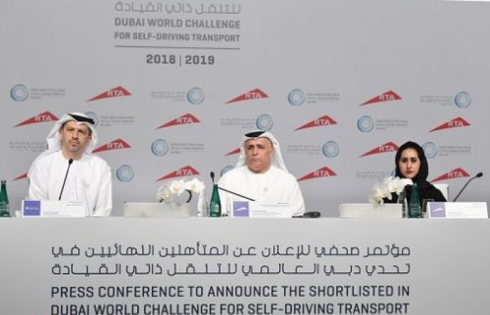"""""""طرق دبي"""" تعلن أسماء الشركات والجامعات المتأهلة لنهائيات """"تحدي دبي العالمي للتنقل ذاتي القيادة"""""""