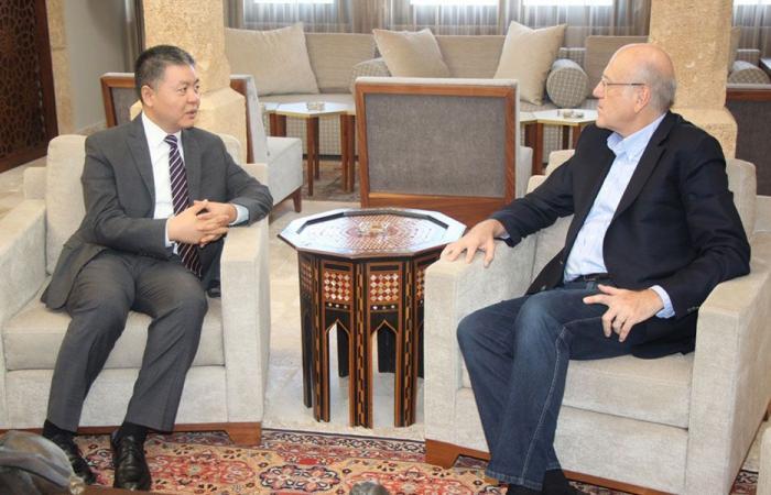 ميقاتي عرض وسفير الصين التعاون في المشاريع الخاصة بطرابلس
