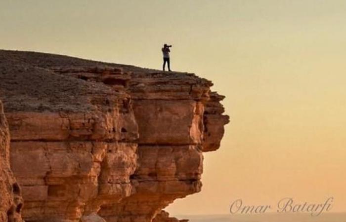 جبل طويق كما جسده عشاق التصوير الضوئي