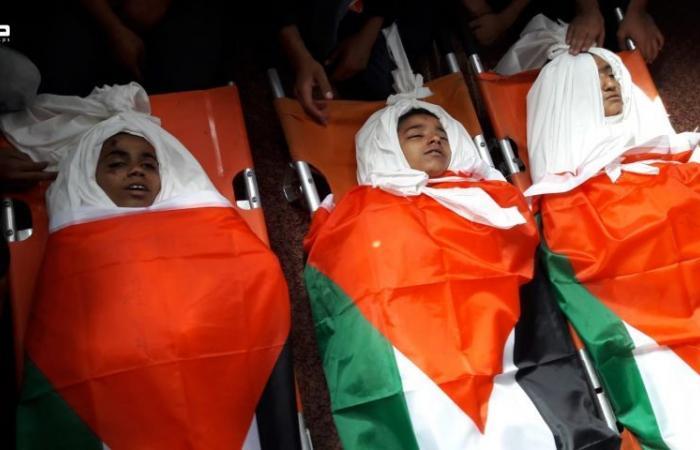فلسطين   تشييع شهداء غزة الأطفال