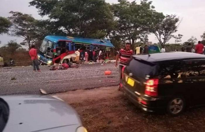مقتل 47 شخصا باصطدام حافلتين بزيمبابوي