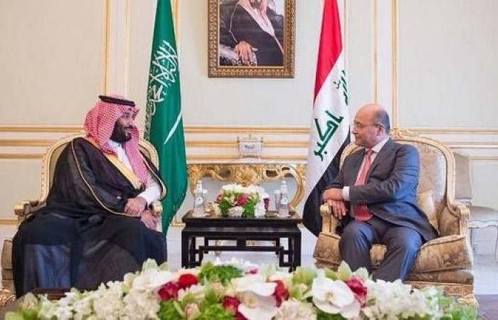 الخليح   محمد بن سلمان يستعرض مع رئيس العراق العلاقات الثنائية