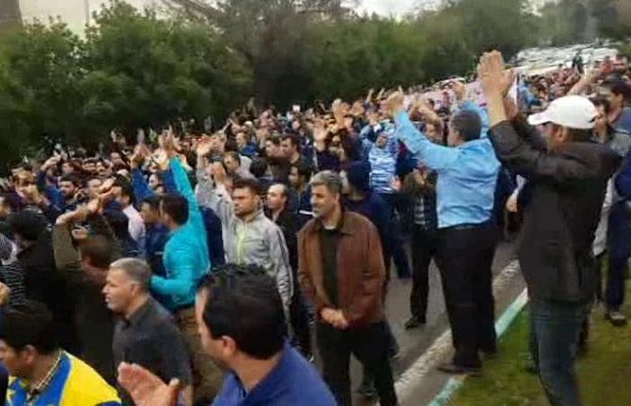 إيران | استمرار مظاهرات عمال إيران رغم اعتقال 20 منهم