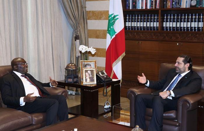 الحريري عرض مع نائب رئيس جمهورية غانا العلاقات الثنائية