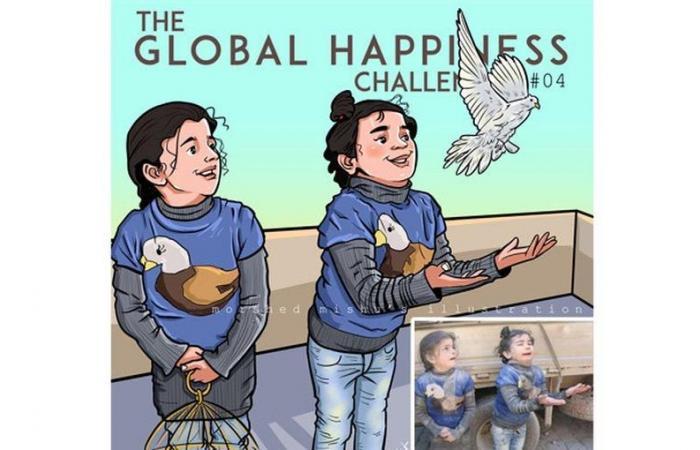 فنان يرسم ضحايا الحروب.. والطفل السوري عمران ضاحكاً