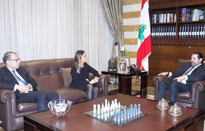 الحريري عرض مع وزيرة التعاون الدولي المصرية العلاقات الثنائية