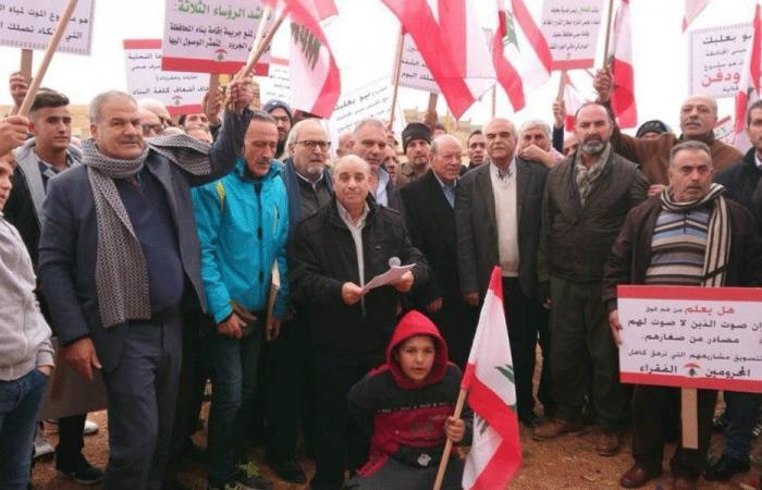 اعتصام احتجاجي في المكان المقترح لتشييد مبنى محافظة بعلبك الهرمل