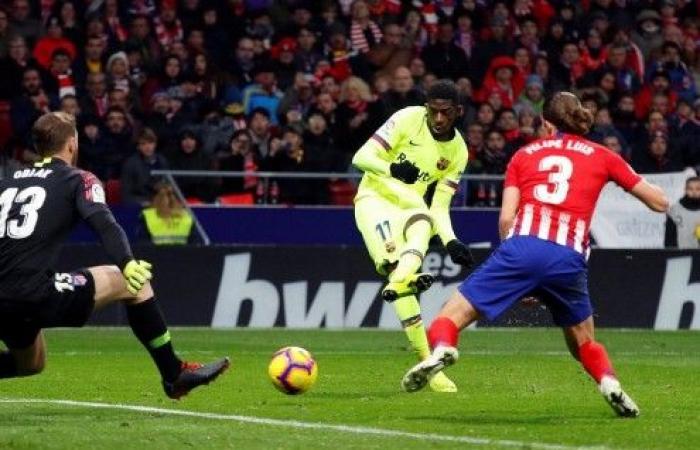 ديمبلي ينقذ برشلونة من الخسارة أمام أتلتيكو مدريد