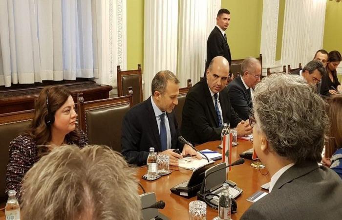 باسيل: لبنان يريد تعزيز علاقاته مع صربيا