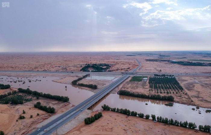 الخليح   وادي الرمة الشهير يستعيد جماله مع الأمطار ويزّين القصيم