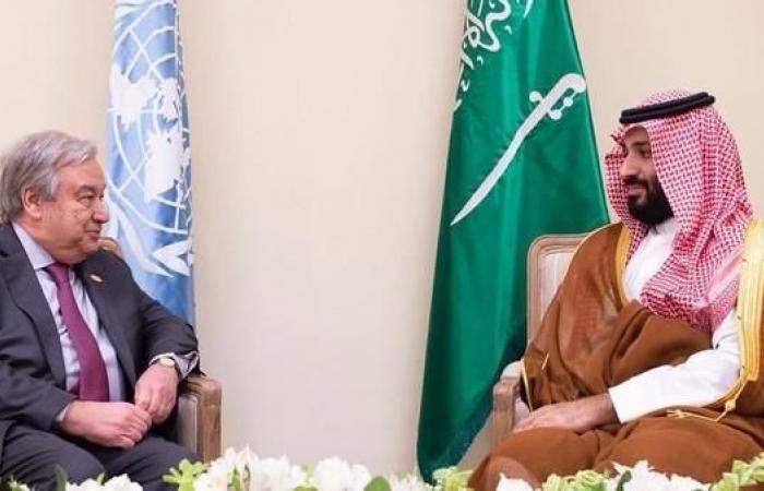 الخليح   محمد بن سلمان يلتقي أمين عام الأمم المتحدة بقمة العشرين