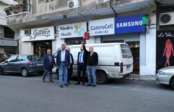 صحناوي اطلع على وضع عواميد الكهرباء في شارع الجعيتاوي