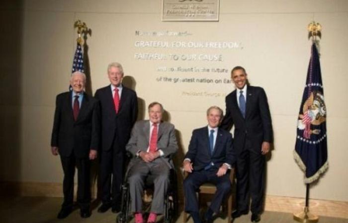 الوداع الأخير لجورج بوش الأب