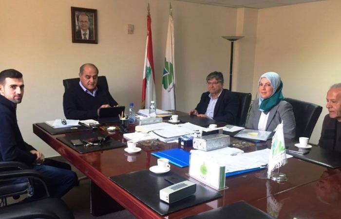الخطيب التقى وفدا من جمعية حماية البيئة في جبل الريحان