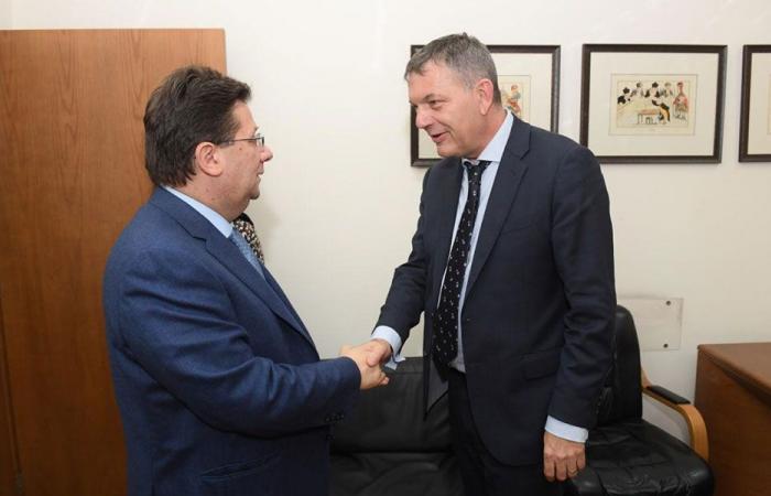 كنعان بحث مع لازاريني الاصلاحات المالية ومكافحة الفساد