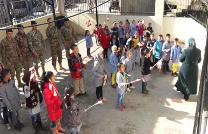 هبة من الجيش الى طلاب مدرسة بيت ايوب