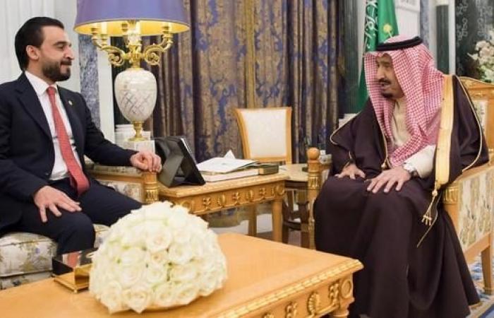 الخليح   الملك سلمان يبحث مع رئيس البرلمان العراقي آفاق التعاون