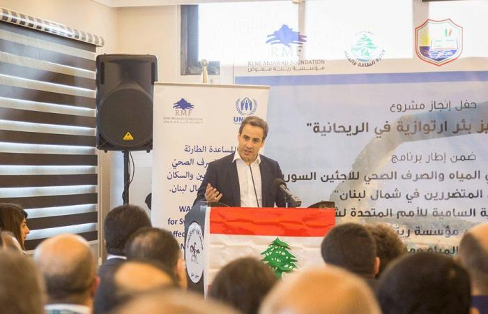 معوض: الاهتمام بالنازحين مسؤولية دولية ولبنان قدم تضحيات كبيرة