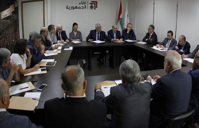 """""""لقاء الجمهورية"""": لعدم زج لبنان في مواجهات غير مفيدة"""