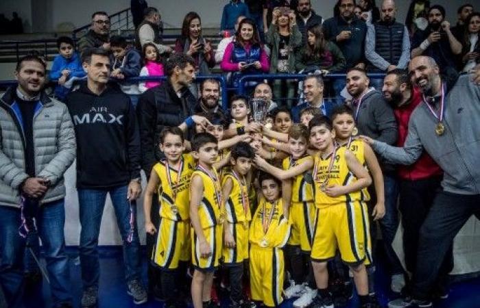 سلة دون 10 سنوات للرياضي بيروت