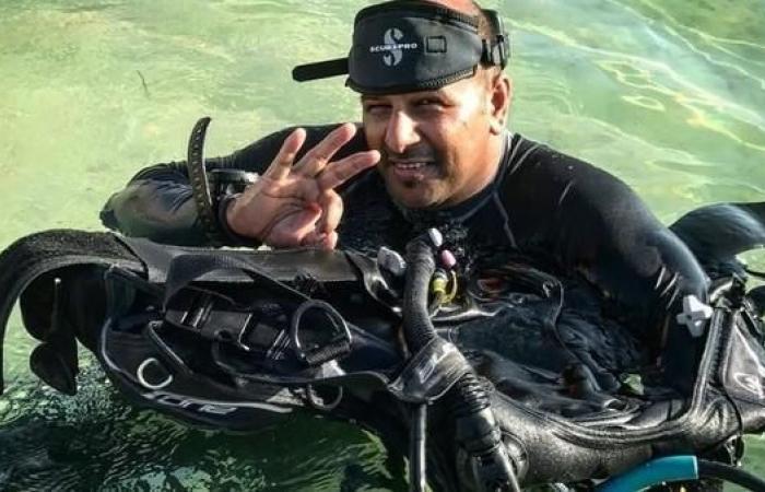 """الخليح   غواص سعودي يتحدى """"الشلل النصفي"""" في أعماق البحار"""