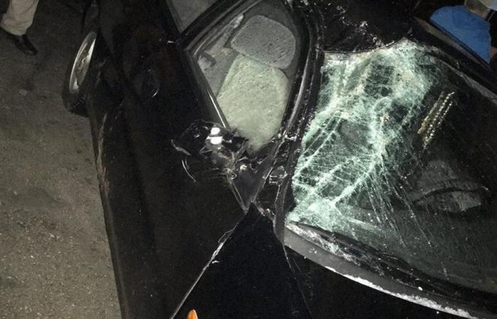 انهيار جدار على سيارة في بدنايل الكورة