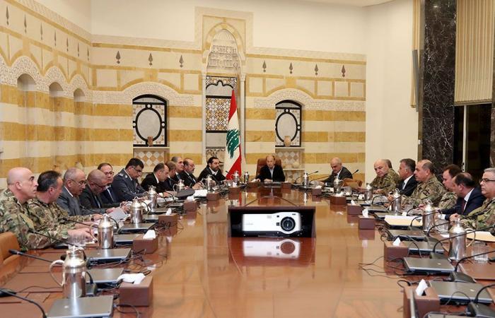 المجلس الأعلى للدفاع: لبنان متمسك بكل شبر من أرضه