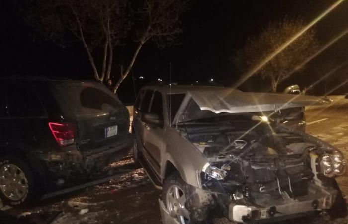 بالصور: تصادم بين 9 سيارات في بعلبك