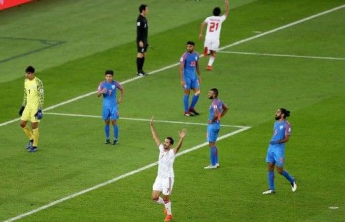 الإمارات تنجو من فخ الهند وتهزمها بهدفين