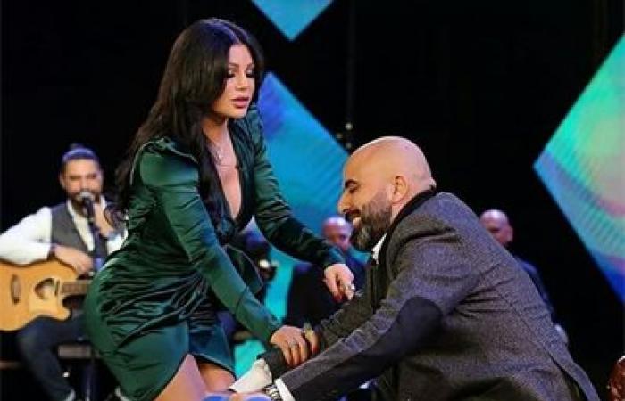 فستان هيفاء وهبي الأخضر يخطف الأنظار.. من صممّه؟