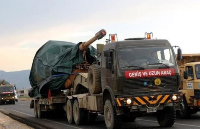 سوريا   قطار عسكري تركي يعزز القوات المنتشرة على الحدود مع سوريا