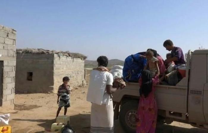اليمن | صور.. تهديدات الحوثي تجبر سكان قرية بحرض على النزوح