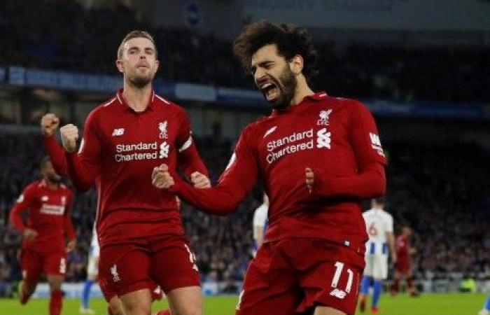 صلاح يقود ليفربول لفوز صعب على برايتون