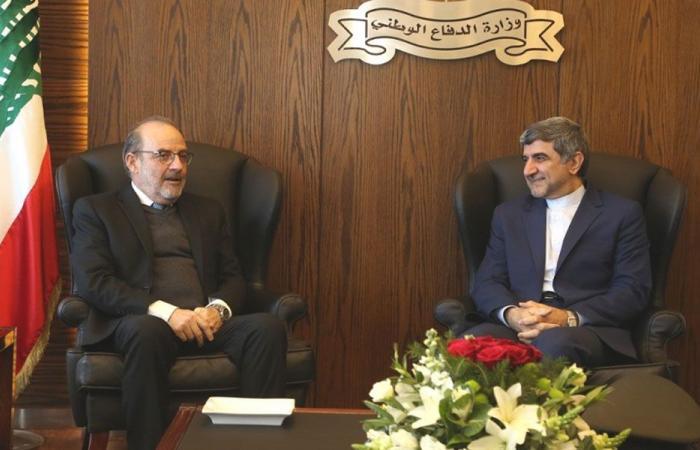 سفير ايران وكاردل في وزارة الدفاع