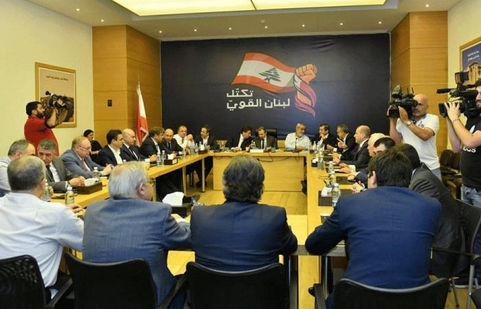 """""""لبنان القوي"""": ذاهبون بإيجابية لإنهاء الملف الحكومي"""