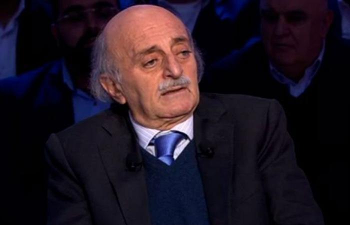 جنبلاط تلقى برقيات من أردوغان وأوغلو والصباح