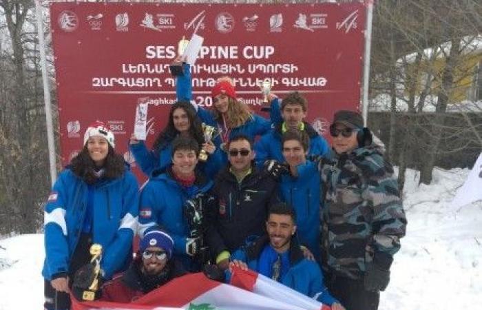 لبنان أول في بطولة الدول الصغرى للتزلج في أرمينيا