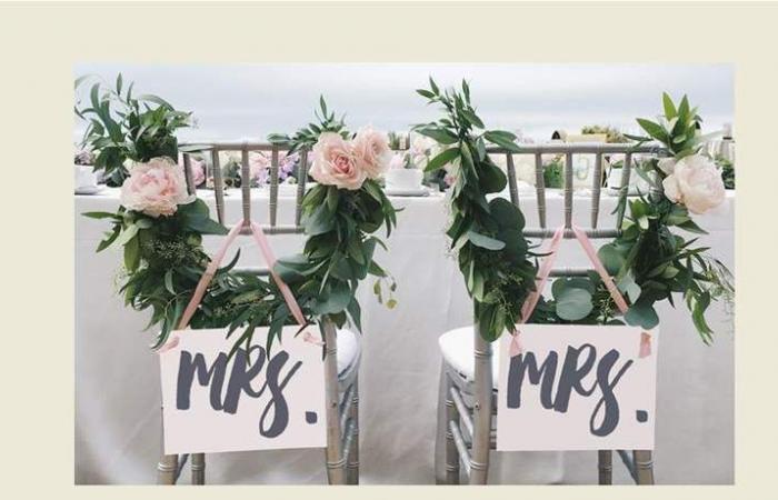 أفكار حديثة لتزيين مقاعد العروسين (صور)