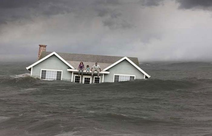 """محاكاة """"نهاية العالم"""" تكشف احتمال غرق منطقتك!"""