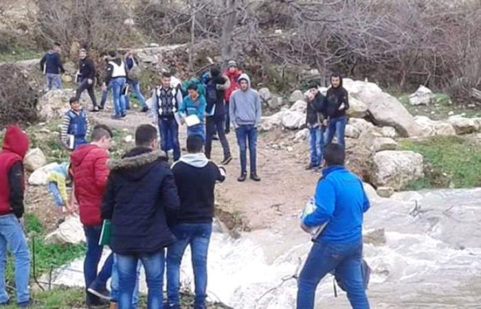 انهيار طريق جسر نهر عين القمر في فنيدق – عكار