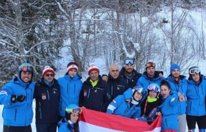 بعثة التزلج الى بطولة العالم في السويد