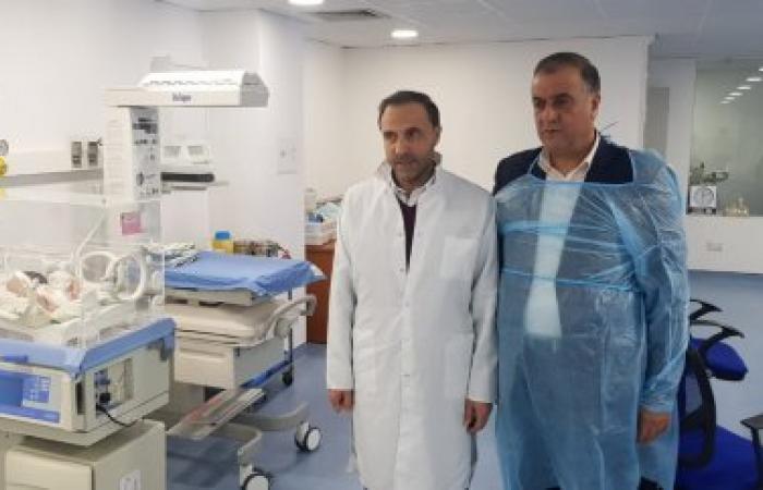 النائب سليمان أعلن عن تقديمه حاضنة وجهاز تنفس اصطناعي لمستشفى حلبا الحكومي