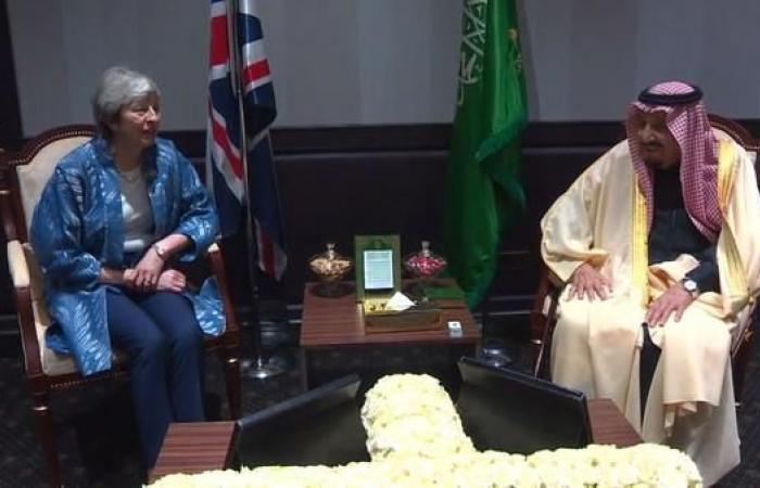 الخليح | الملك سلمان يستقبل رئيسة وزراء بريطانيا