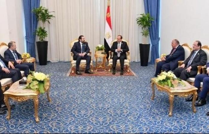 مصر | السيسي للحريري: حريصون على حماية لبنان من أي عبث خارجي