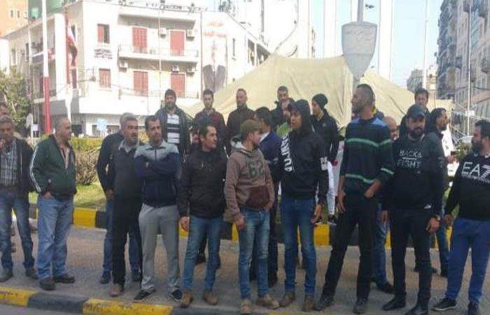 اعتصام لعدد من أصحاب السيارات العاملة على المازوت في طرابلس