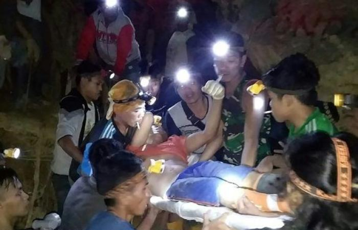 عشرات المفقودين في انهيار منجم ذهب في إندونيسيا