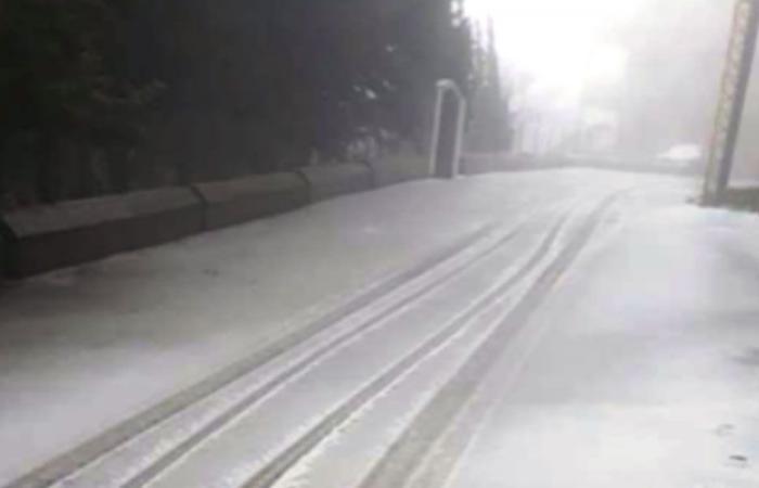 الثلج غطى طرقات الضنية
