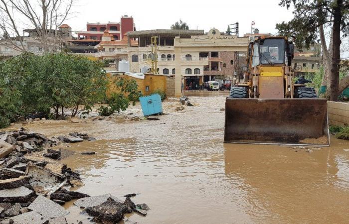 فيضان نهر الأسطوان والسيول غمرت الأراضي الزراعية