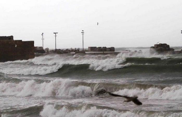 تأثر حركة الملاحة في صيدا بالعاصفة