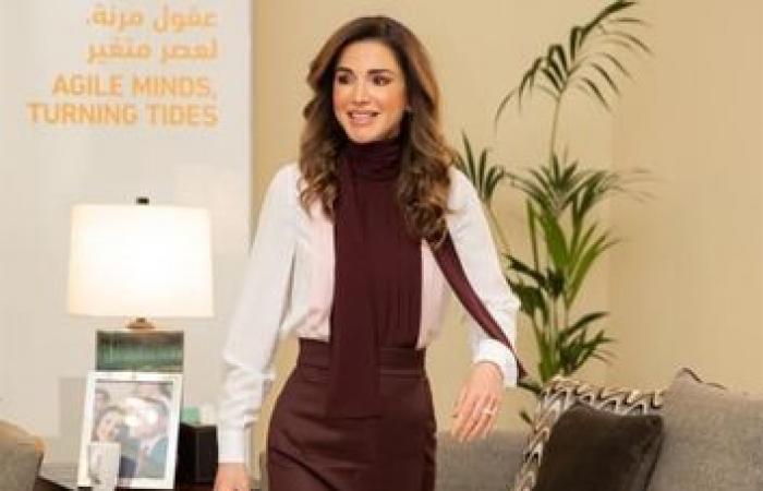 الملكة رانيا بلوك جديد.. إطلالة ساحرة (صورة)